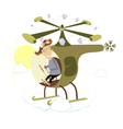 Helicopter flight vector image