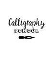 lettering logo design for calligraphy school vector image vector image