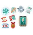 medical emblem vintage tag vector image vector image