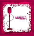 music design template vector image vector image