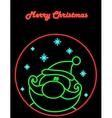 Neon Santa vector image vector image