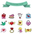 Object valentine set collection stock vector image