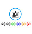 personal badge rounded icon vector image