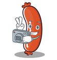 photography sausage character cartoon style vector image vector image