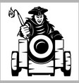 pirate canon - pirate themed design elements vector image