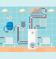 plumbing in house concept vector image