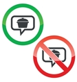 Pot message permission signs vector image vector image