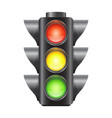 realistic traffic lights for cars isolated vector image
