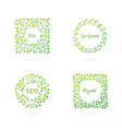 set of eco elements vector image vector image