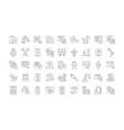 set simple icons artificial intelligence vector image