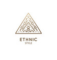 simple triangle logo abstract ethnic vector image vector image