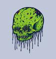 skull monster vector image