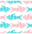 sliced fish seamless pattern vector image