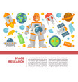 space research and exploration poster vector image vector image