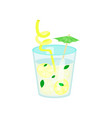 summer tropical cocktail or lemonade cartoon vector image