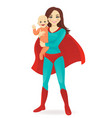 superhero woman vector image