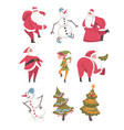 symbols xmas and new year holidays set cute vector image vector image