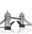 Tower Bridge London hand drawn vector image vector image