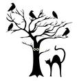 tree crows vector image vector image