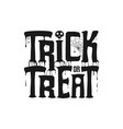 trick or treat banner with dripping text vector image