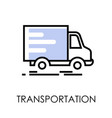 truck with post and parcels transportation and vector image