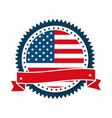 united states america circular emblem with vector image vector image
