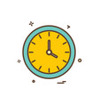 watch clock time icon design vector image vector image