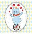 Wonderful of circus Bear vector image