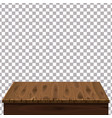 wood table on isolated background template vector image