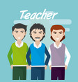 young teachers teamwork vector image vector image