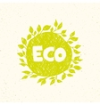 Hand drawing eco logo templates vector image