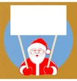 Santa Claus comic style on dotted background vector image