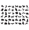 animals silhouettes set vector image