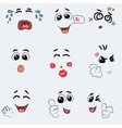 Set of cute emotion vector image