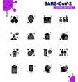 16 solid glyph black coronavirus disease vector image vector image