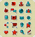 20 Internet Communication Stickers vector image vector image