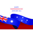 26th january happy australia day greeting card vector image