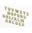 3D font alphabet vector image vector image