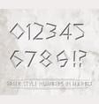 9921 greek numbers vector image