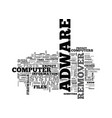 adware remover text word cloud concept vector image vector image