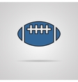 american football - rugby ball icon vector image