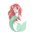 anime manga cute mermaid print vector image