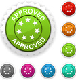 Approved award vector image