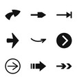 arrowhead icons set simple style vector image
