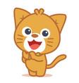 art of cat character vector image vector image