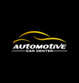 automotive car gold on a dark background vector image vector image