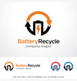 battery recycle logo template