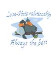 Birdies Postcard Cartoon vector image