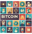 bitcoin - set of colorful flat design infographics vector image