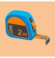 Building compact measuring tape vector image
